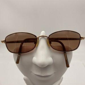 Anne Klein AK6107 Gold Oval Sunglasses Frames